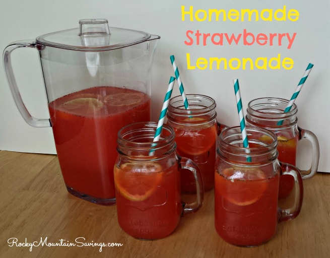 Homemade Strawberry Lemonade - Rocky Mountain Savings