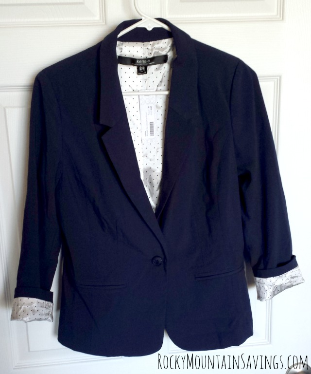 Stitch Fix #2 - Kensie Rebekah Contrast Detail Blazer