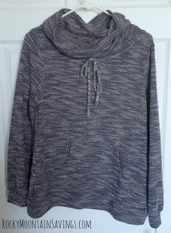 Stitch Fix #2 - Loveappella Evie Draw String Funnel Neck Sweatshirt