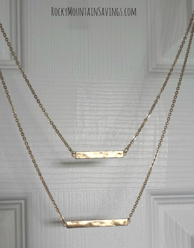 Bay to Baubles Kalea Double Bar Necklace