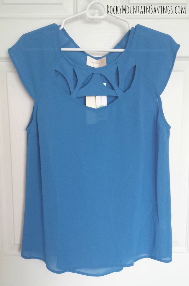 Skies are Blue Moraga Cut Out Detail Blouse - Stitch Fix #5