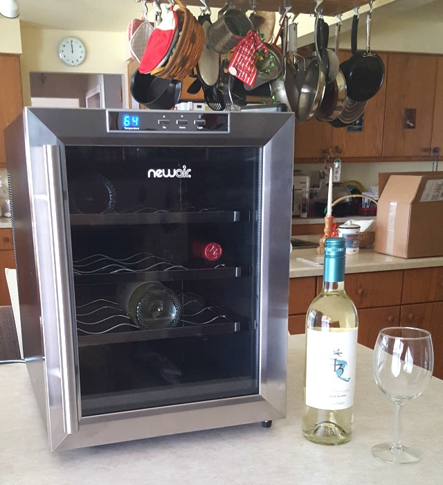 newair aw 121e 12 bottle countertop thermoelectric stainless steel wine cooler review. Black Bedroom Furniture Sets. Home Design Ideas