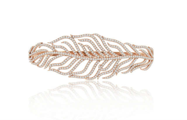 Sutra Feather Hand Bracelet