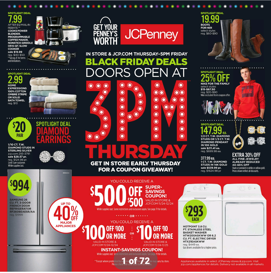 JCPenney Black Friday store hours