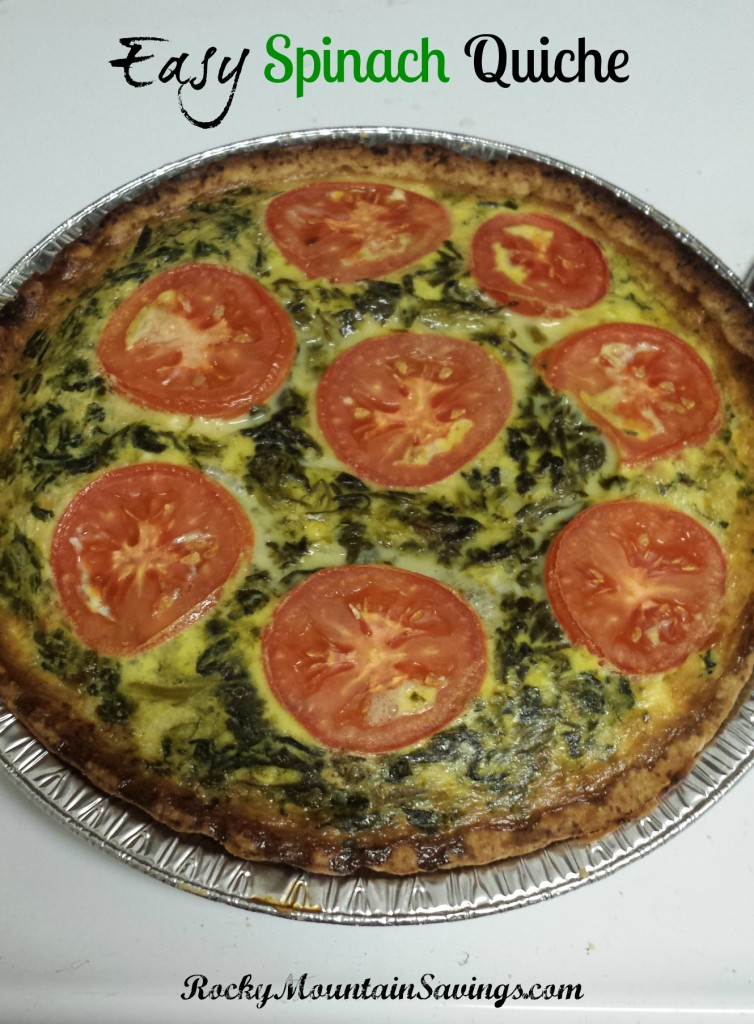 easy spinach quiche