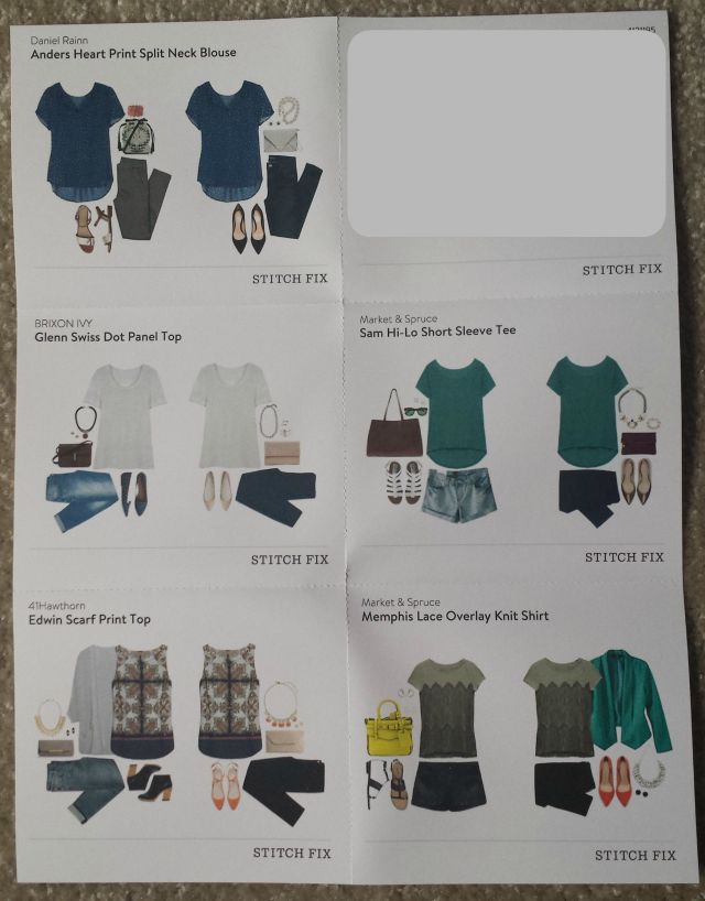 Stitch Fix Styling Sheet