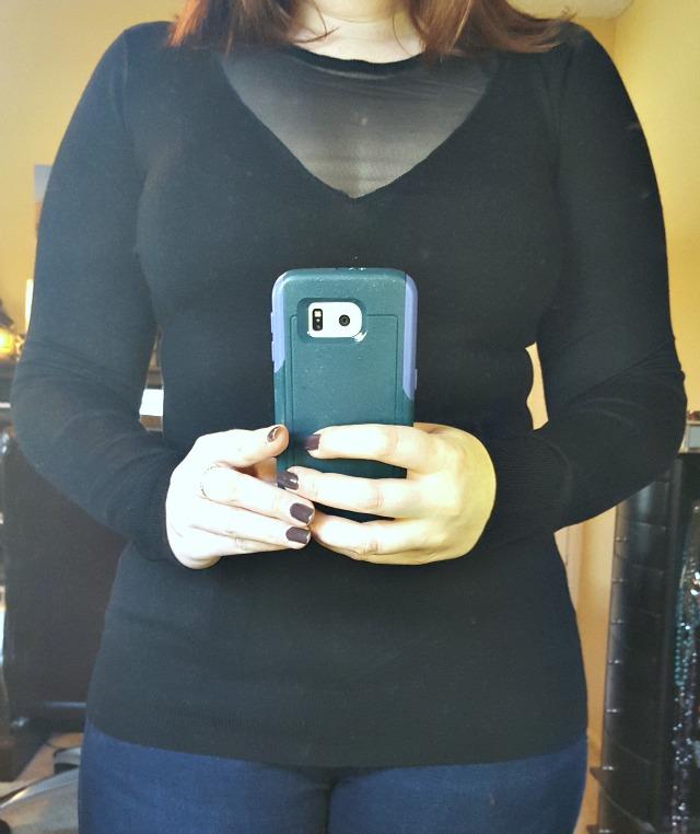 Colinda Sheer V Neck Sweater