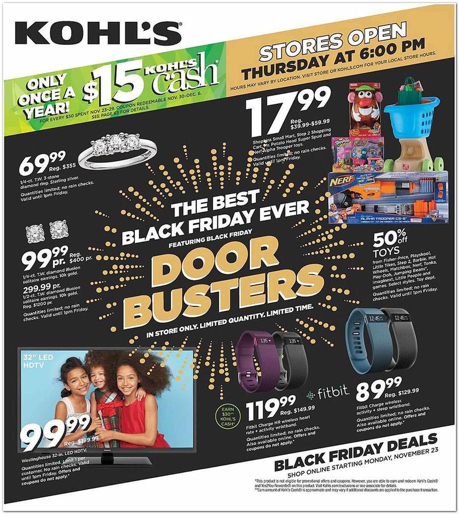 Kohl S Sales This Weekend: Kohls Black Friday Ad 2015