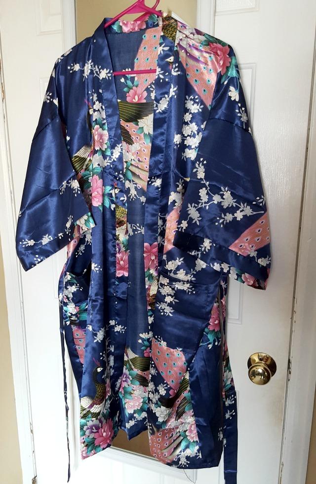 Kimono Silk Peacock Robe