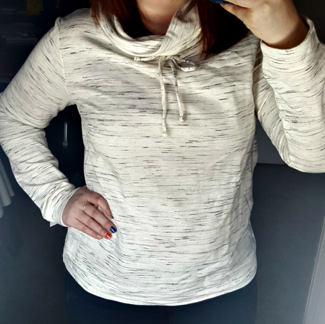 Loveappella Dito Funnel Neck Pullover Knit Top Stitch Fix #12