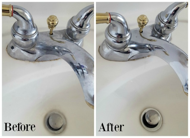 Scrubbing Bubbles Sink Before and After