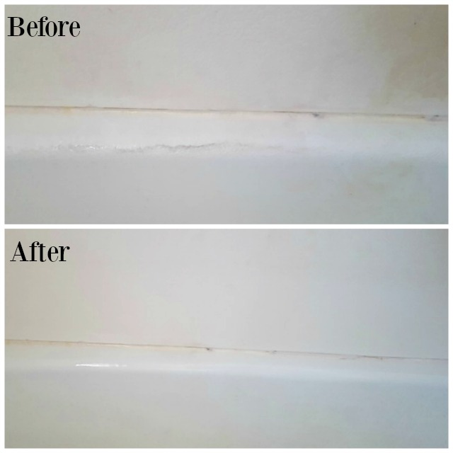 Scrubbing Bubbles Tub Before and After