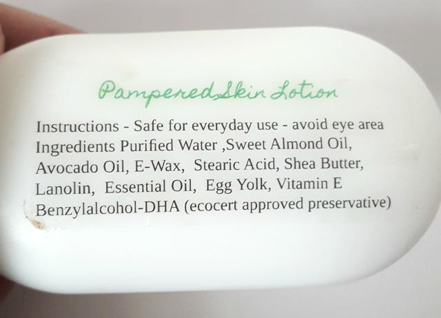 Pampered Skin Lotion