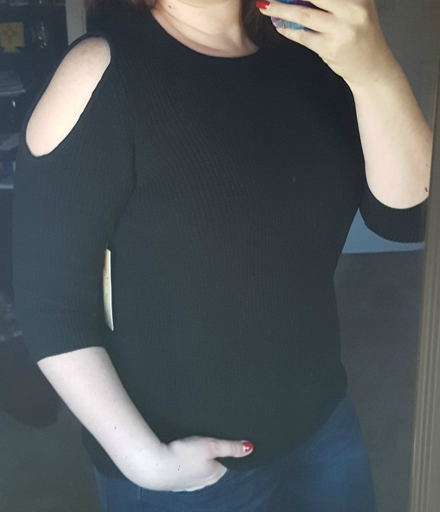 RD Style Blair Cold Shoulder Pullover Sweater - Stitch Fix