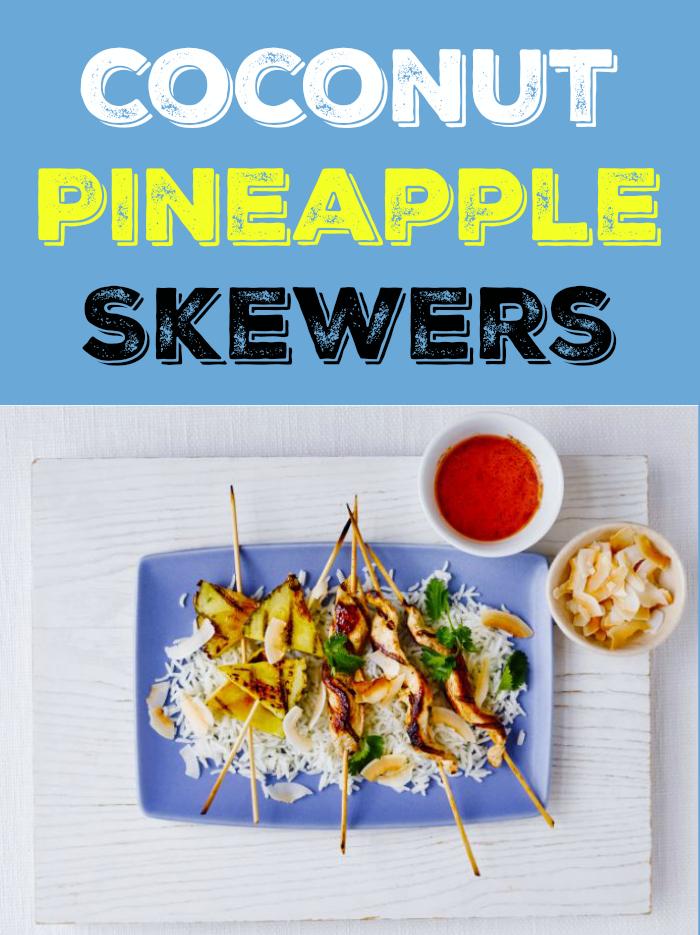 Coconut Pineapple Skewers