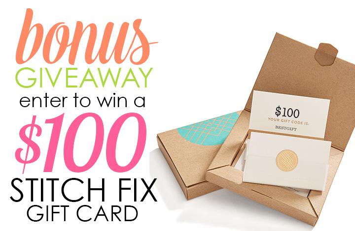 Stitch Fix 100 bonus giveaway