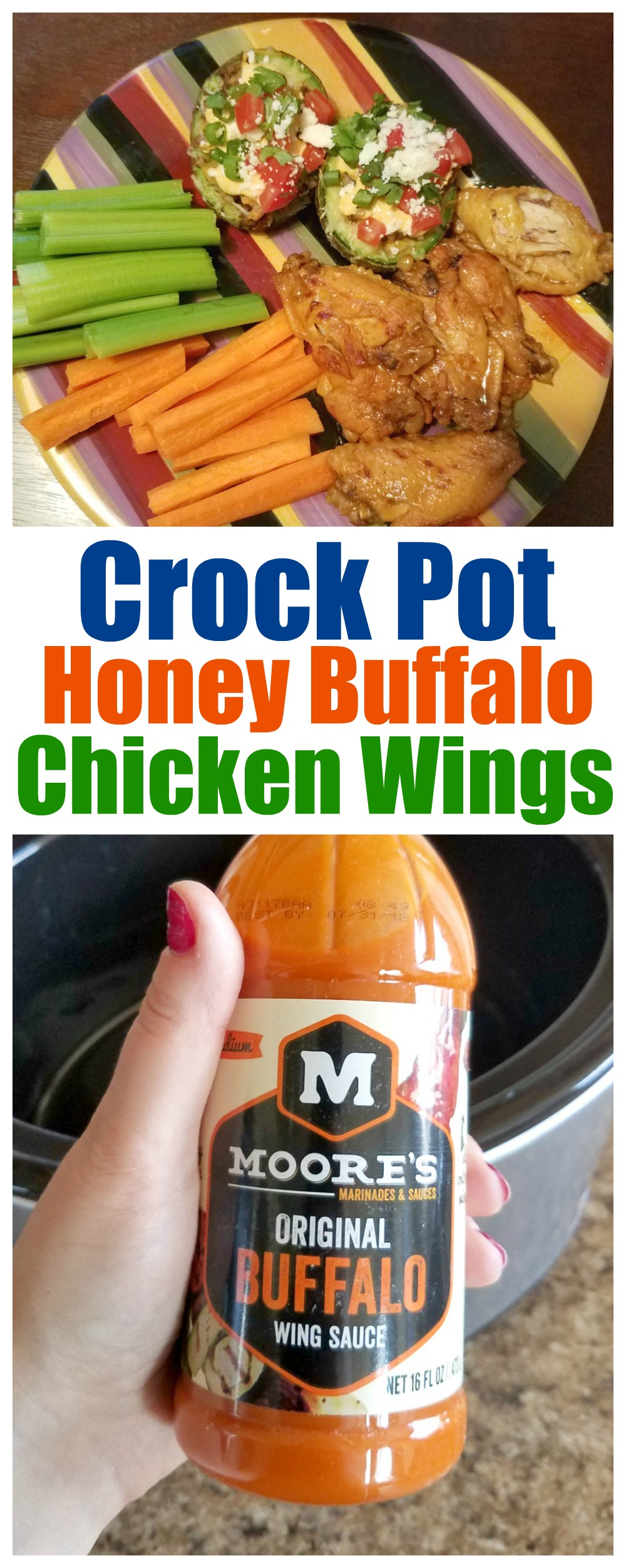 Crock Pot Honey Buffalo Chicken Wings