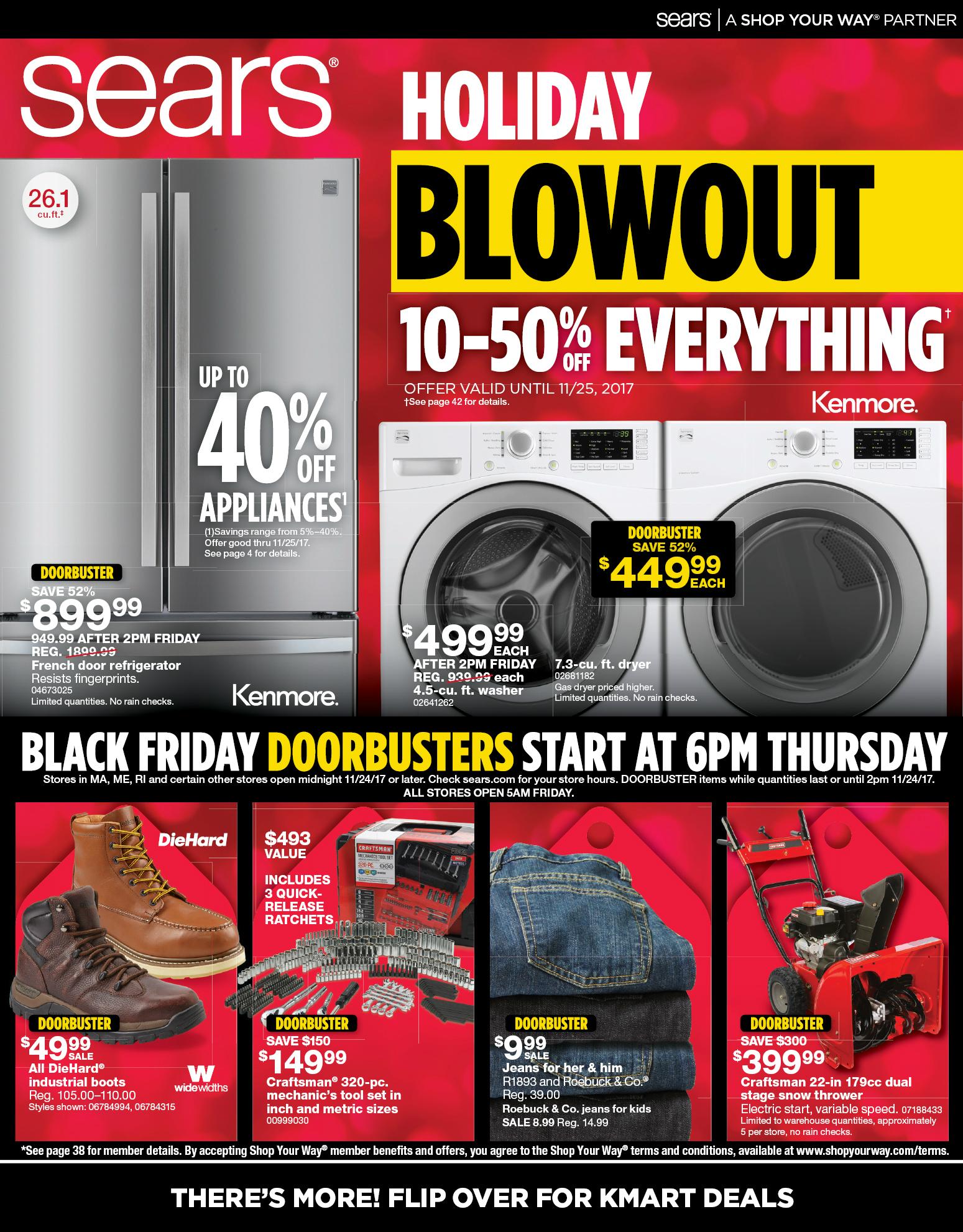 Sears black friday ad 2017 - Black friday herramientas electricas ...