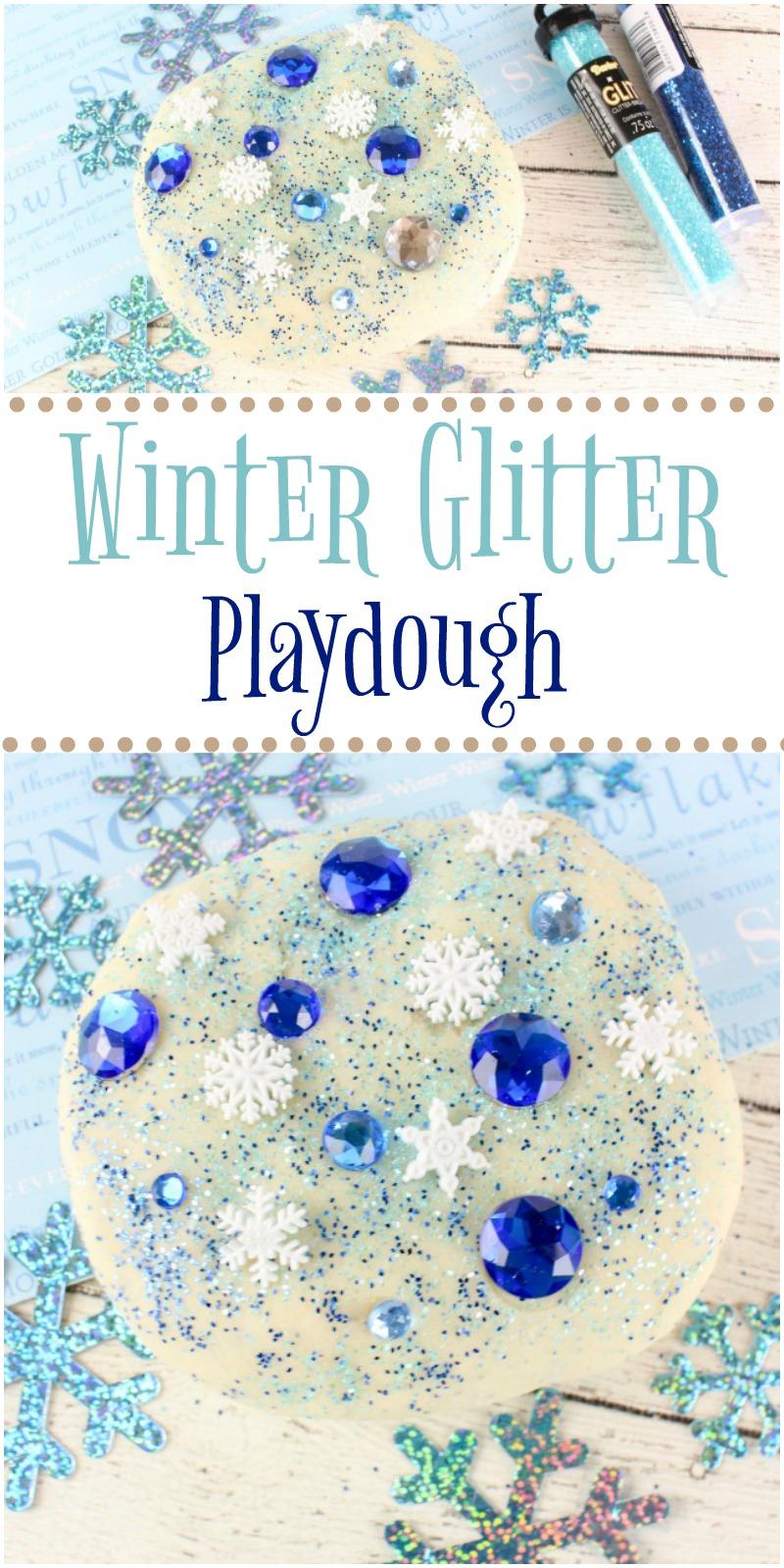 DIY Winter Glitter Playdough