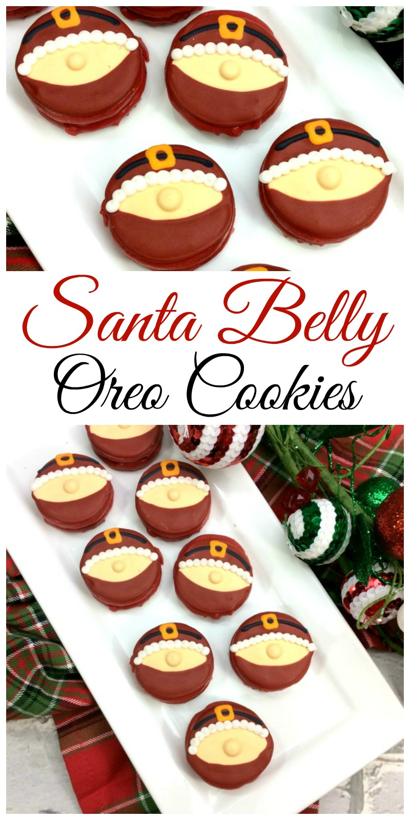 Santa Belly Oreo Cookies