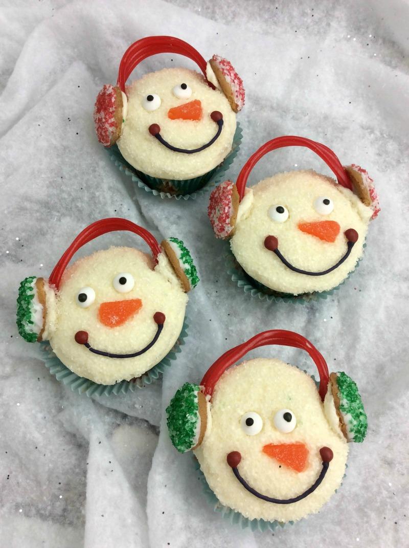Snowman Cupcakes | Christmas Cupcake Recipe – Rocky ...