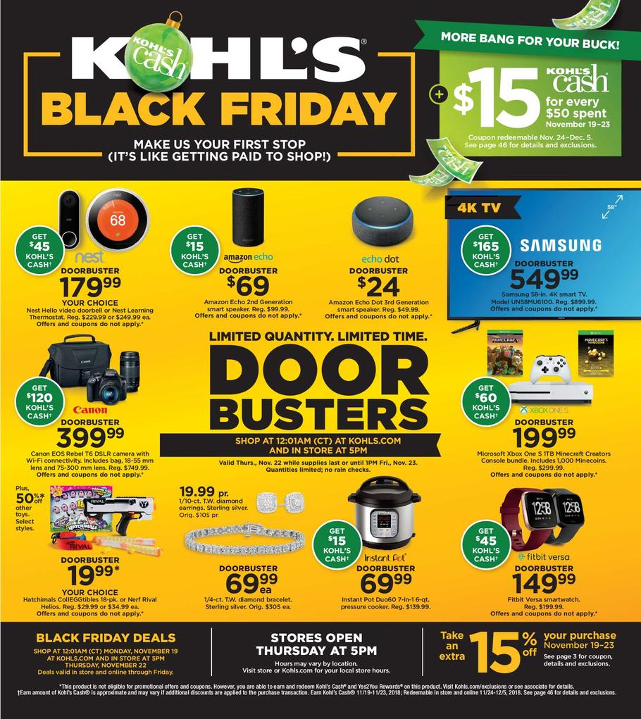 kohls black friday ad 2018. Black Bedroom Furniture Sets. Home Design Ideas